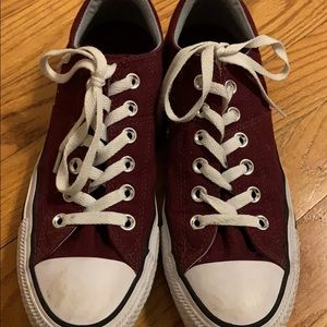 Maroon converse all stars